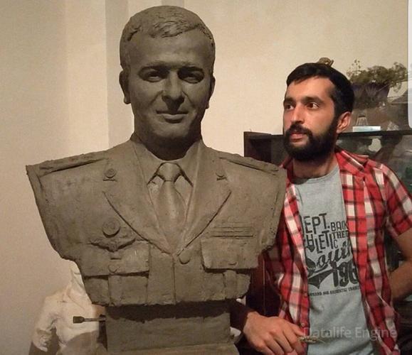 Şəhid generalımızın büstü hazırlandı