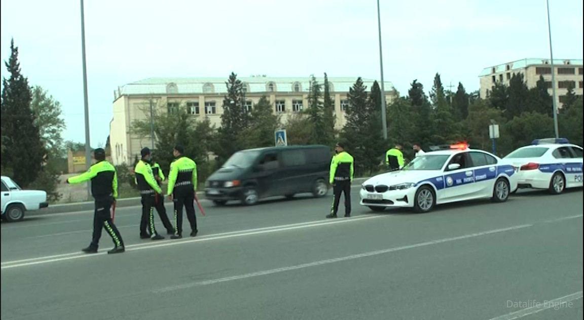 Gəncə yol polisi avtoxuliqanlıq edənlərə qarşı reyd keçirib